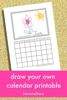 Printables: Draw Your Own Calendar, Game Christmas , Vintage Christmas Ornaments, Fun Pack New Year Calendar, Kids Calendar, Calendar Ideas, Art Drawings For Kids, Drawing For Kids, Art Lessons For Kids, Art For Kids, Kid Art, Math Lessons