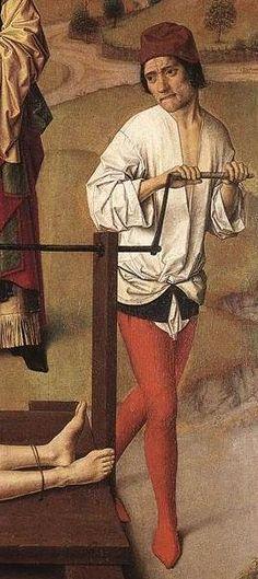 Dirk Bouts, Martyrdom of St Erasmus, 1458, detail