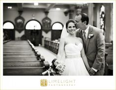 Sacred Heart Catholic Church, Bride and Groom, Black and White Photography, Limelight Photography www.stepintothelimelight.com