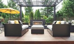 Outdoor furniture creates smooth transitions