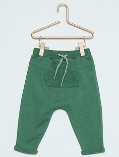 Pantalon en molleton esprit sarouel                                         vert Bébé garçon   - Kiabi