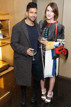 Ella Catliff and Nik Thakkar at the Fendi Holidays cocktail party