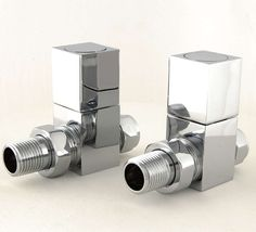 Cubex straight chrome valve and lock-shield