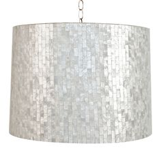 Interior HomeScapes offers the Brick Large Brick Pattern Capiz Shell Pendant by Worlds Away.  Visit our online store to order your Worlds Away products today.