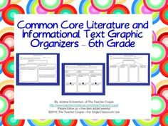 6th+Grade+Common+Core+Reading+Graphic+Organizers+from+TheTeacherCouple+on+TeachersNotebook.com+-++(38+pages)+