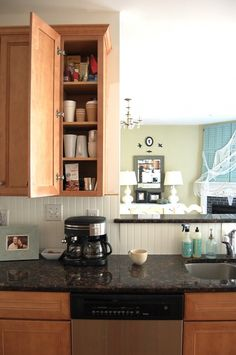 A coffee cabinet! I don't drink coffee right now, but I'm sure one day, when I'm all grown up I'll have to have coffee in my house for guests .. when that day comes, I will dedicate at least a shelf to all things coffee above the coffee maker (or in my case, it'll totally be a k-cup coffee maker)