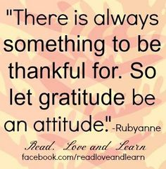 Gratitude quote via www.Facebook.com/ReadLoveandLearn
