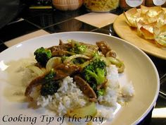 Cooking Tip of the Day: Recipe: Beef and Broccoli Stir Fry