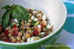 Middle Eastern Vegetable Salad {End-of-summer recipe}. Lots of flavor, best to make at the end of summer so you can use garden tomatoes and basil. Great side dish and healthy.