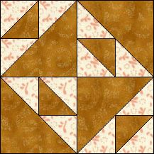 Block of Day for April 18, 2016 - Dutch Puzzle-strip-piecing-The pattern may be downloaded until: Saturday, April 30, 2016.