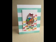 ▶ Happy Easter Card: using Lawn Fawn inks and Eggstra Special Easter Set - YouTube