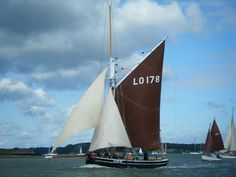 """The bawley """"Bona"""" built by Aldous of Brightlingsea in 1903 Sailing Ships, Sailing Yachts, Dinghy, Small Boats, Old Things, Rigs, British, Water, Pictures"""