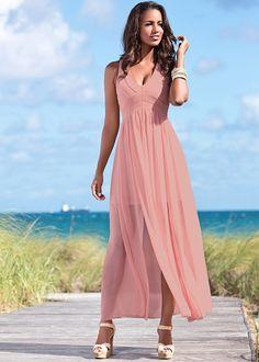 Vestido de chiffon salmão encomendar agora na loja on-line bonprix.de  R$ 139,00 a partir de Vestido sem mangas confeccionado em poliéster. Tecido de toque ...