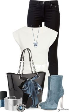 """Bit of Blue"" by cynthia335 on Polyvore"