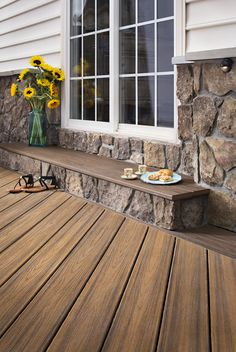 A Trex Transcend deck in our Havana Gold color makes it easy to transform your backyard into a tropical paradise. Visit Trex.com to see all of the colors in our Premium Tropicals line. #outdoorliving #backyard #deck