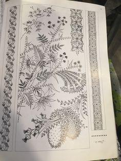 Border Embroidery Designs, Embroidery Motifs, Flower Art Images, Tattoo Patterns, Fashion Illustration Sketches, Mural Wall Art, Iphone Background Wallpaper, A4 Paper, Motif Design