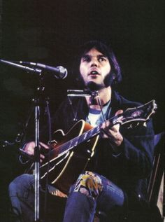 Neil Young playing Wembley Stadium with CSNY in 1974