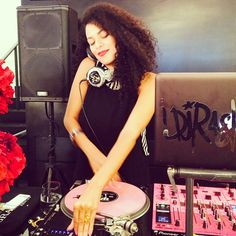 DJ Rashida spinning at the Hourglass store opening event in Venice, Calfornia. #HGAK