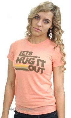 Lets Hug It Out T-Shirt, Charlie Top, Boho Chic, Boho Womens Clothing, Clothing for Women, Vintage Inspired Clothes from Styles2you.com