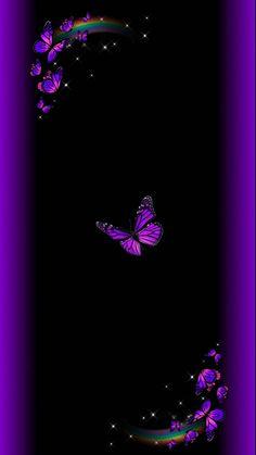 Purple Wallpaper, Butterfly Wallpaper, Purple Butterfly, Butterfly Art, Cute Wallpapers, Wallpaper Backgrounds, Iphone Wallpapers, Princess Ball Gowns, Neon Glow