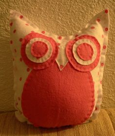 ON SALE super soft PINK owl pillow by makemorefriends on Etsy, $17.00