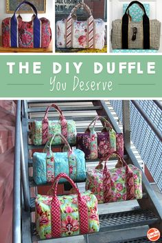 Jetset in style with a beautiful duffle you sewed yourself! Simply pick your favorite fabric and follow this pattern.
