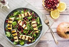 GRILLED HALLOUMI & POMEGRANATE SALAD – Comfort Feasts