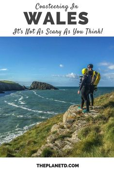 What it's like to go coasteering in Wales... It's not as scary as you may think! Everything you need to know before you go. Adventure travel in the UK. | Blog by the Planet D #Wales