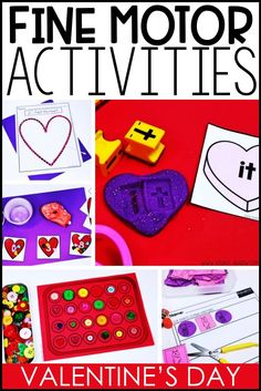 These 10 Valentine's Day Fine Motor Activities are favorites in our special education classroom. Check them out and use them in your classroom, too! Small Group Activities, Work Activities, Motor Activities, Winter Activities, Classroom Activities, Autism Classroom, Preschool Ideas, Teaching Special Education, Teaching Resources