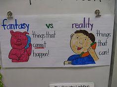 Fantasy vs. reality poster