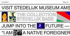 The Stedelijk Museum Amsterdam is an international museum dedicated to modern and contemporary art and design. Not to be missed! Web Design, Layout Design, Graphic Design, Amsterdam Art, Amsterdam Holland, Restaurants, Code Art, Typography, Lettering