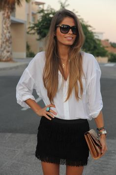 Skirt with a fringe