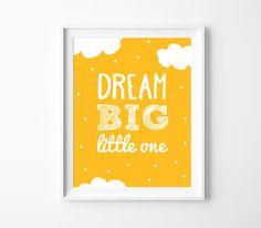 Art Digital Print Dream Big Little One Nursery by BabyCoStore Baby Room Wall Art, Art Wall Kids, Nursery Wall Art, Nursery Decor, Nursery Prints, Room Decor, Room Baby, Big Little, Purple Kids Rooms