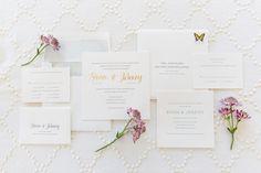Invitations: Bella Figura - http://www.stylemepretty.com/portfolio/bella-figura Photography: Larissa Cleveland Photography - www.larissacleveland.com/home   Read More on SMP: http://www.stylemepretty.com/california-weddings/2016/10/27/modern-colorful-summer-wedding/