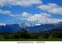 The Bitterroot Mountain range provides a beautiful background for farms and ranches in Montana. ©Photo copyright by Marty Nelson. Photographer website: http://www.shutterstock.com/cat.mhtml?gallery_id=1131029&page=1&inline=431507242