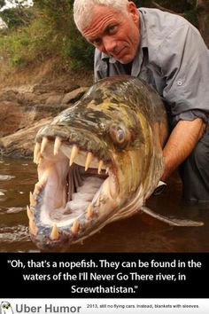 """Evan says """"oh thats a goliayh tiger fish"""" ...(and he would probably go gladly to screwthatistan to see it)"""