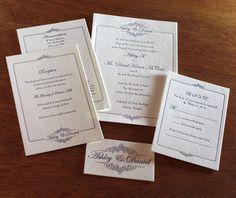 monica letterpress wedding invitation - suite
