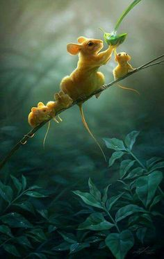 Digital painting: Create a Heart-Warming Wildlife Illustration in Photoshop Cute Baby Animals, Animals And Pets, Funny Animals, Wild Animals, Cute Animals Images, Beautiful Creatures, Animals Beautiful, Tier Fotos, Animal Kingdom