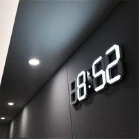 Modern Design LED Wall Clock Modern Digital Alarm Clocks Display Home Living Room Office Table Desk Night Wall Clock Display Hanging Clock, Led Wall Clock, Desk Clock, Clock Decor, Office Wall Clock, Wall Clock Calendar, Outdoor Wall Clocks, Wall Clock Light, Outdoor Walls