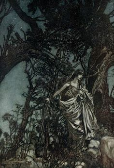 Part II of 'A midsummer night's dream' by William Shakespeare; with illustrations by Arthur Rackham. Published 1908 by Doubleday, Page & Co