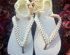 Maravilhosa Sandália de Pérolas