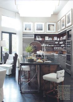 A more realistic look at how open shelves would be in the kitchen- I do like it and find it restaurant like but also need alternate storage to avoid getting too much going on.