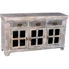 What are your thoughts on this reclaimed wood 3-door sideboard? Could you picture it in your home?
