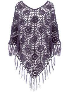 Crochet poncho at Accessorize