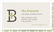 Family Monogram Business Cards