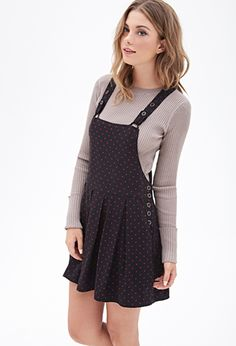 Polka Dot Overall Dress | FOREVER21 - 2000085046 I actually really want this.