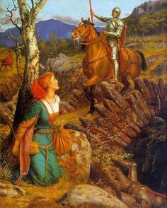 Overthrowing of the Rusty Knight by Arthur Hughes, 1908. Image courtesy Wiki Commons