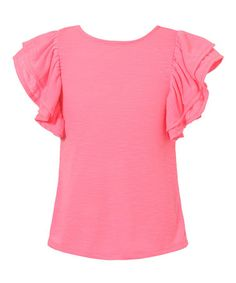 Look at this #zulilyfind! Watermelon Ruffle-Sleeve Tee - Toddler & Girls #zulilyfinds