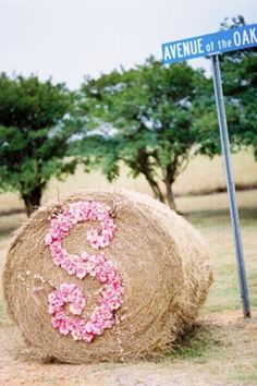 Hay bale with an H instead