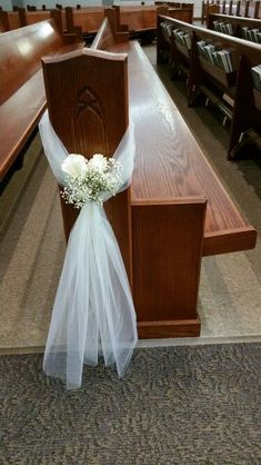 New wedding simple decorations church pews 49 ideasYou can find Church wedding decorations and more on our website.New wedding simple decorations church pews 49 ideas Wedding Pew Decorations, Wedding Pews, Wedding Chairs, Wedding Centerpieces, Diy Wedding, Wedding Bouquets, Church Decorations, Wedding Church Aisle, Easy Decorations